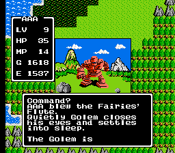 Dragon Warrior I Cantlin Golem