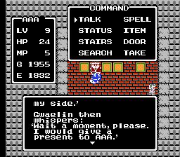 Dragon Warrior Gwaelin's Love