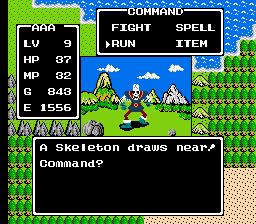 Dragon Warrior I Skeleton