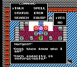 Dragon Warrior II 2 Hargon