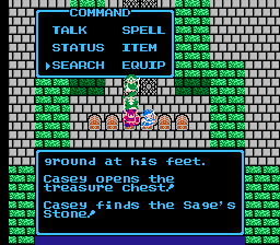 Dragon Warrior III Sages Stone