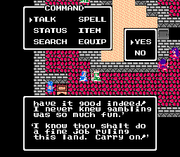 Dragon Warrior III 3 Romaly King