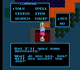DRagon Warrior III Merchant Bob