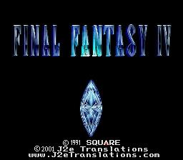 Final Fantasy IV 4 J