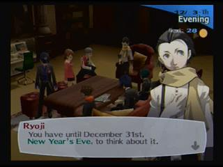 Persona 3 FES new years eve